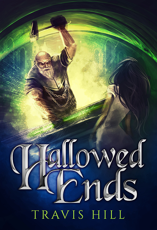 """Hallowed Ends"" book cover, still a Work-in-Progress (but looking fantastic!)"